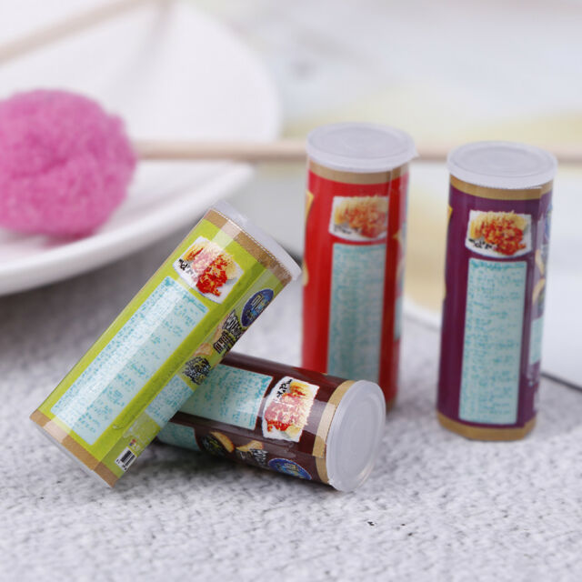4Pcs Chips miniature potato food snack 1:12 dollhouse accessory decor g_cx