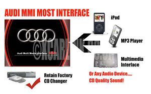 audi 2g mmi most ipod iphone aux in audio adatper. Black Bedroom Furniture Sets. Home Design Ideas