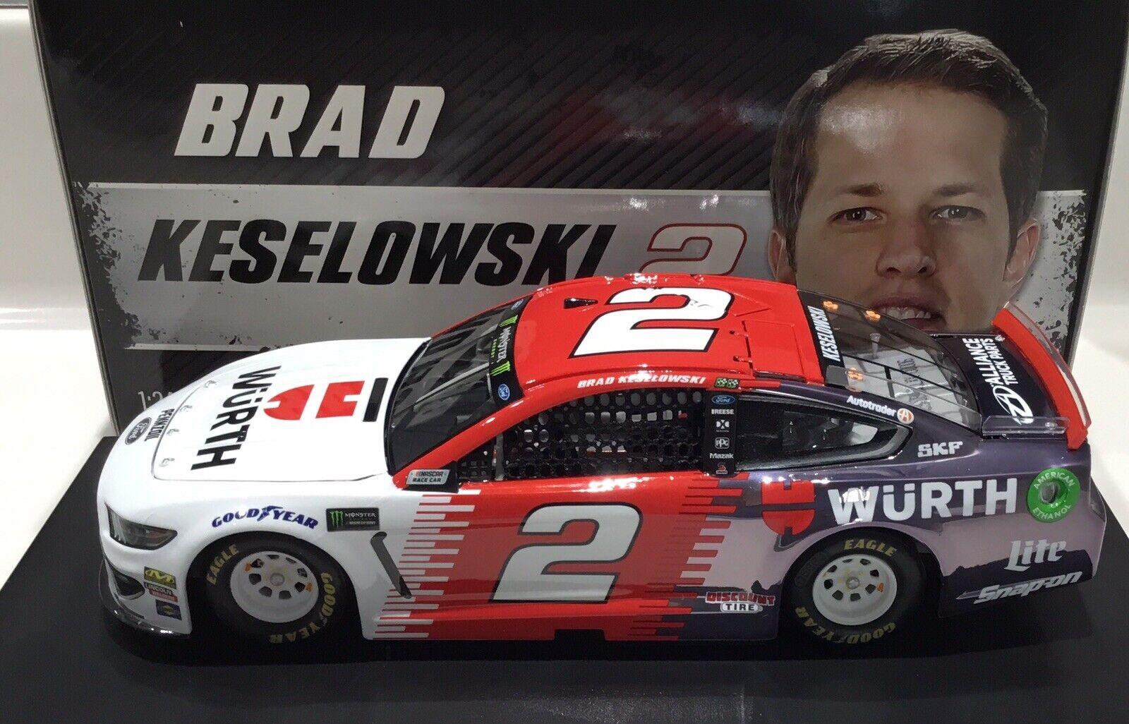 "2019 1 24  2 Brad Keselowski ""Wurth""  CC - Mustang 1 of 60 Same Day Ship"