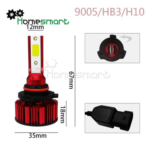 2PCS//set Q1 LED Car Headlight H4 H7 H8 H9 H11 9005 9006 6000K 50W LED