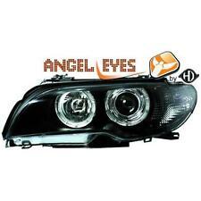 Coppia fari fanali anteriori TUNING BMW Serie 3 E46 2003-06 Coupe' e cabrio neri