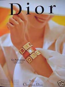 PUBLICITE-DE-PRESSE-1996-MONTRE-CHRISTIAN-DIOR-LA-PARISIENNE-ADVERTISING