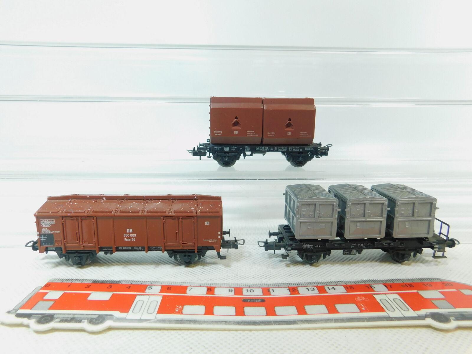 venderse como panqueques Bm545-0, 5  3x Trix Trix Trix int. h0 ac vagones DB  603 865 + 350 009 + 011696 muy bien  mejor moda