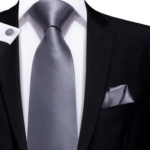 MEN TIE Silk Necktie Set Black Grey Silver Geometric Striped Paisley Wedding LOT