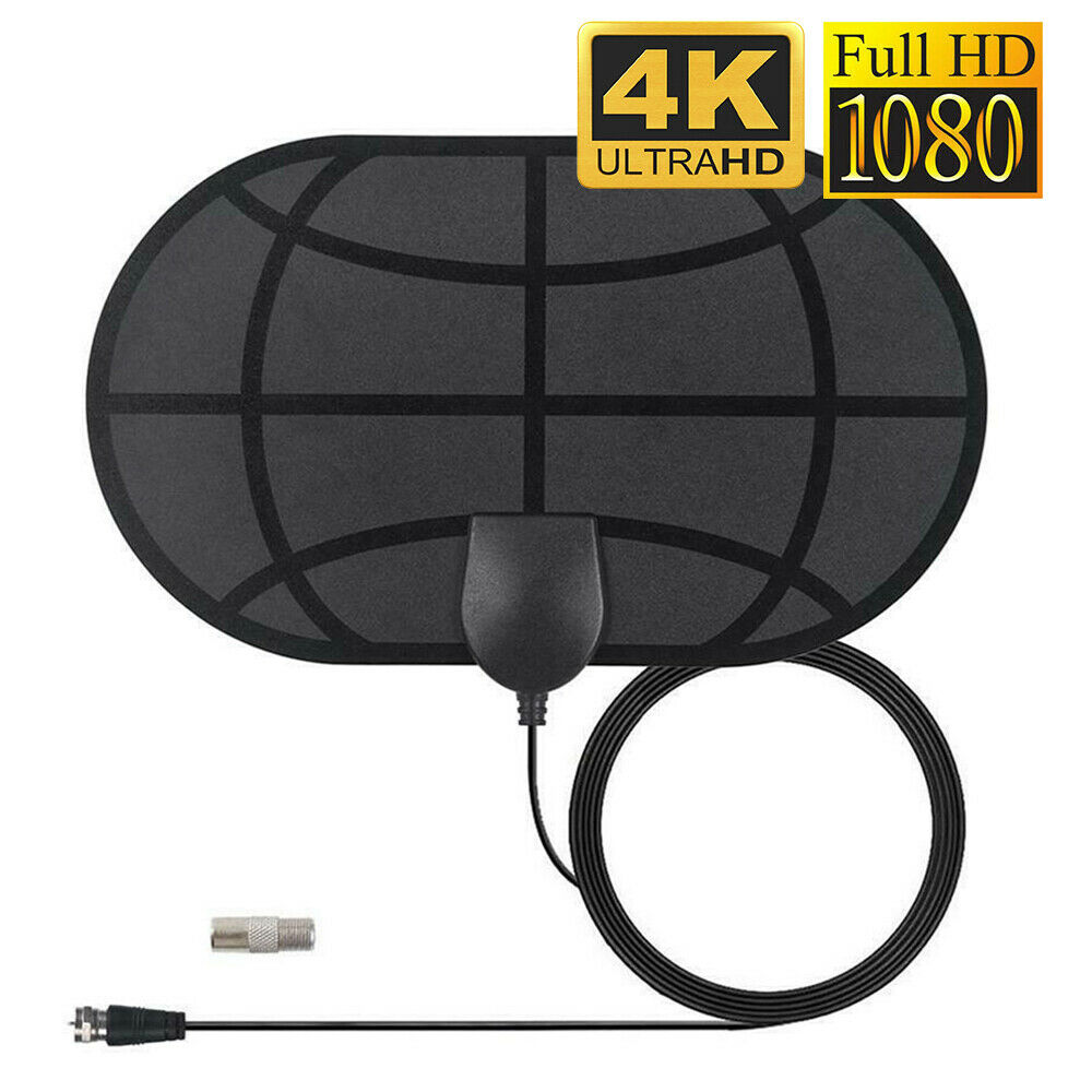 980 Mile Indoor Digital TV Antenna Aerial Signal Amplified Thin HDTV HD Freeview. Available Now for 5.99