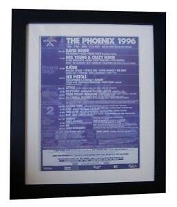 PHOENIX-FESTIVAL-Bowie-Pistols-POSTER-AD-ORIGINAL-1996-FRAMED-FAST-GLOBAL-SHIP
