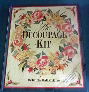 Details about The Decoupage Kit Hardback Book Includes 6 Sheets Of  Decoupage Designs