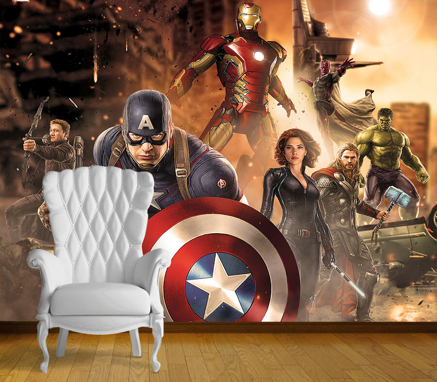 Avengers Avengers Avengers Super Hero parete arte murale parete qualsiasi dimensione autoadesivo in vinile decalcomania 3 7b550d