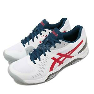 Asics Gel-Challenger 12 White Red Blue Men Tennis Sneakers Shoes 1041A045-117