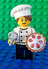 Bread LEGO Female Chef Baker Minifig with Bagel Food Town City NEW