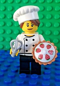 Lego-71018-series-17-GOURMET-CHEF-Cake-Pie-Whisk-Minifigures-City-Town-New