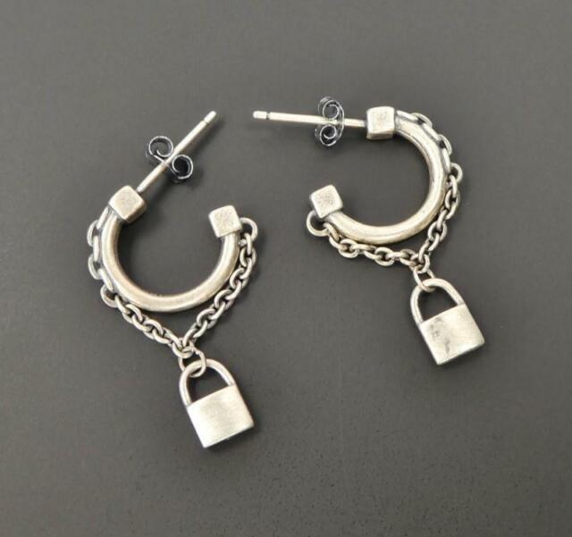 Handmade Sterling Silver Post Hoop Earrings