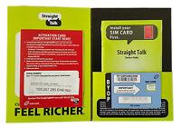 Straight Talk At&t Compatible Nano Sim Card Activation Kit