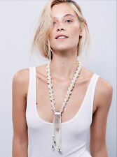 Free People White Crystal Mountain Crystal Stone Necklace NWT #2