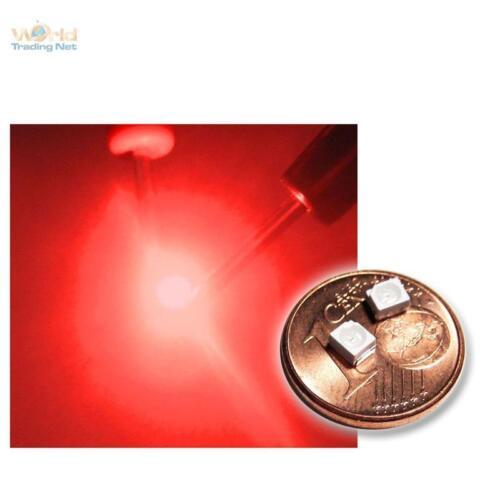 2 20 roja SMD LED PLCC 2//3528 profundamente rojo red rouge rojo rosso Rood inauguraba LED Sop