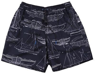Nuova Linea Uomo Marks & Spencer Blu & Bianco Swim Pantaloni Corti Taglia Media-mostra Il Titolo Originale L'Ultima Moda