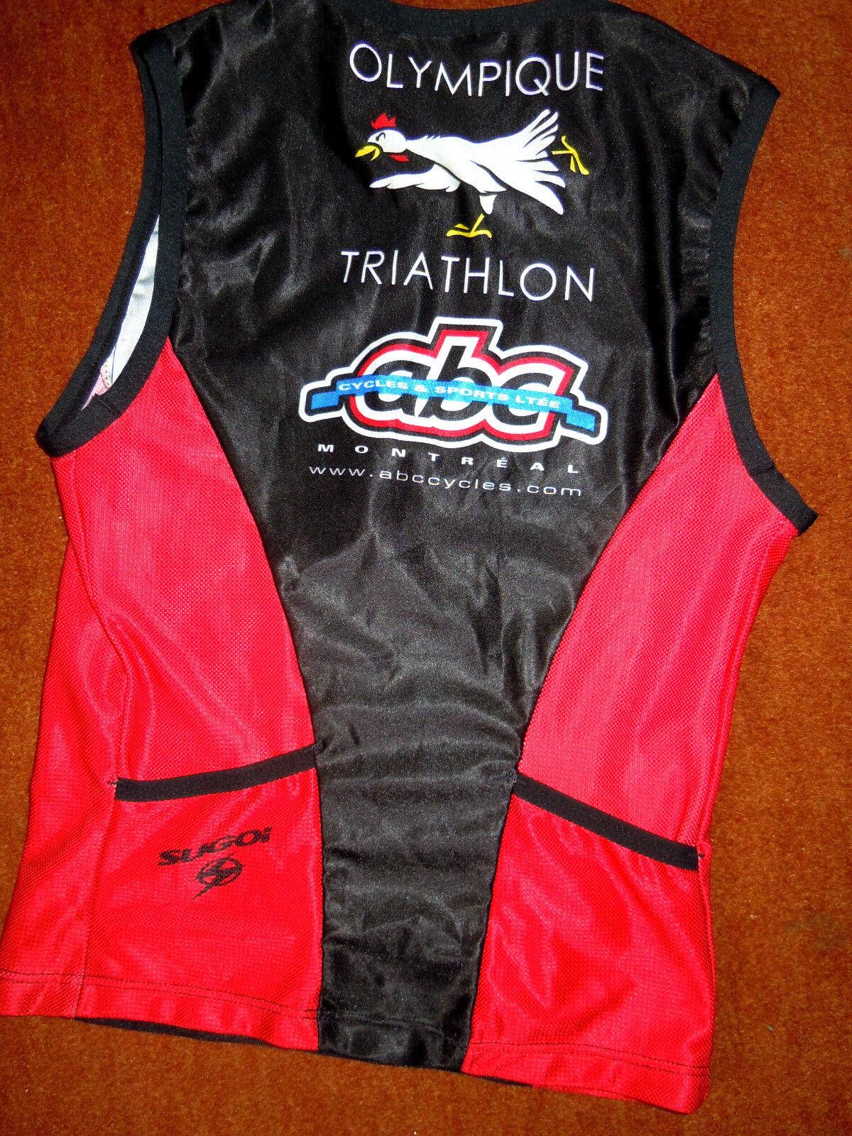 Hochwertiges SUGOI Trikot Triathlon u. u. u. Radsport Damen Gr.XS ärmellos TOP Design 6932da