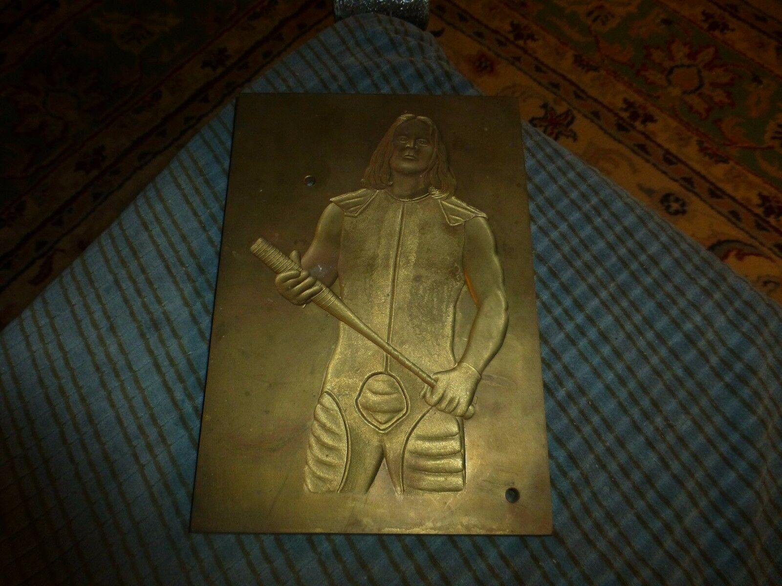 STING W/ BASEBALL BAT Laser Etched Brass Plaque WWE WRESTLER Rare Wall Hanging