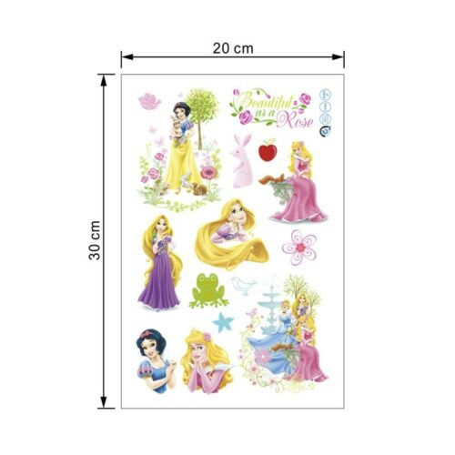 Cute Dancing Disney Princess Wall Stickers For Girls Room Wall decals Birthday