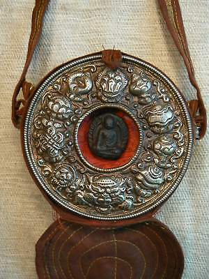 tibetan box ghau autel Buddha Shakyamuni portable altar shrine altare