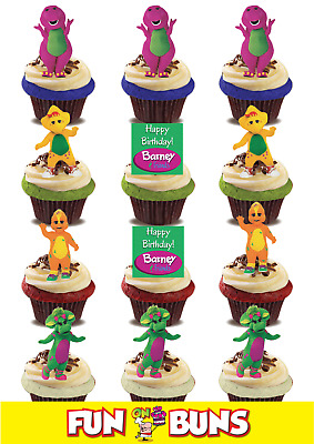 Brilliant Barney Friends Mix Edible Wafer Standup Cake Toppers Kids Tv Personalised Birthday Cards Xaembasilily Jamesorg