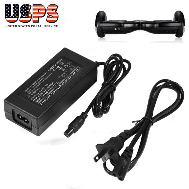 42V 2A Power Adapter Charger For 2 Wheel Self Balancing Scooter Hoverboard US