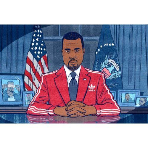 New Kanye West for President 2020 Custom Rap Music 24x36Inch Custom Poster P-269