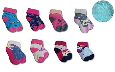 Baby Girl Toddler Kids Terry Cotton Warm Winter Socks Size 6-24 Months