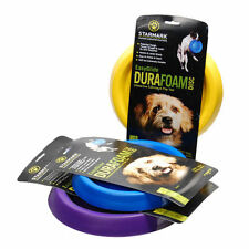 STARMARK DURA FOAM DOG PUPPY THROW DISC FRISBEE PLAY TOY FETCH TRAINING MEDIUM
