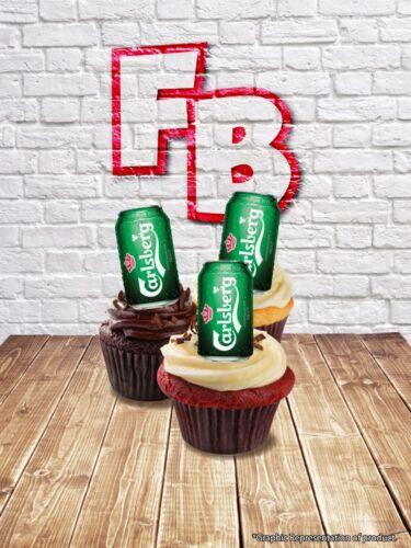 Nouveauté Carlsberg Lager peut résister Fée Gâteau Cupcake Toppers Comestible Anniversaire