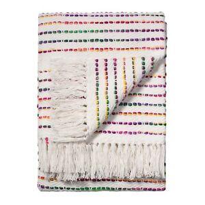 Comercio-justo-a-Rayas-de-Algodon-Arco-Iris-Threads-125x150cm-Sofa-Sofa-Colcha-Cobertor