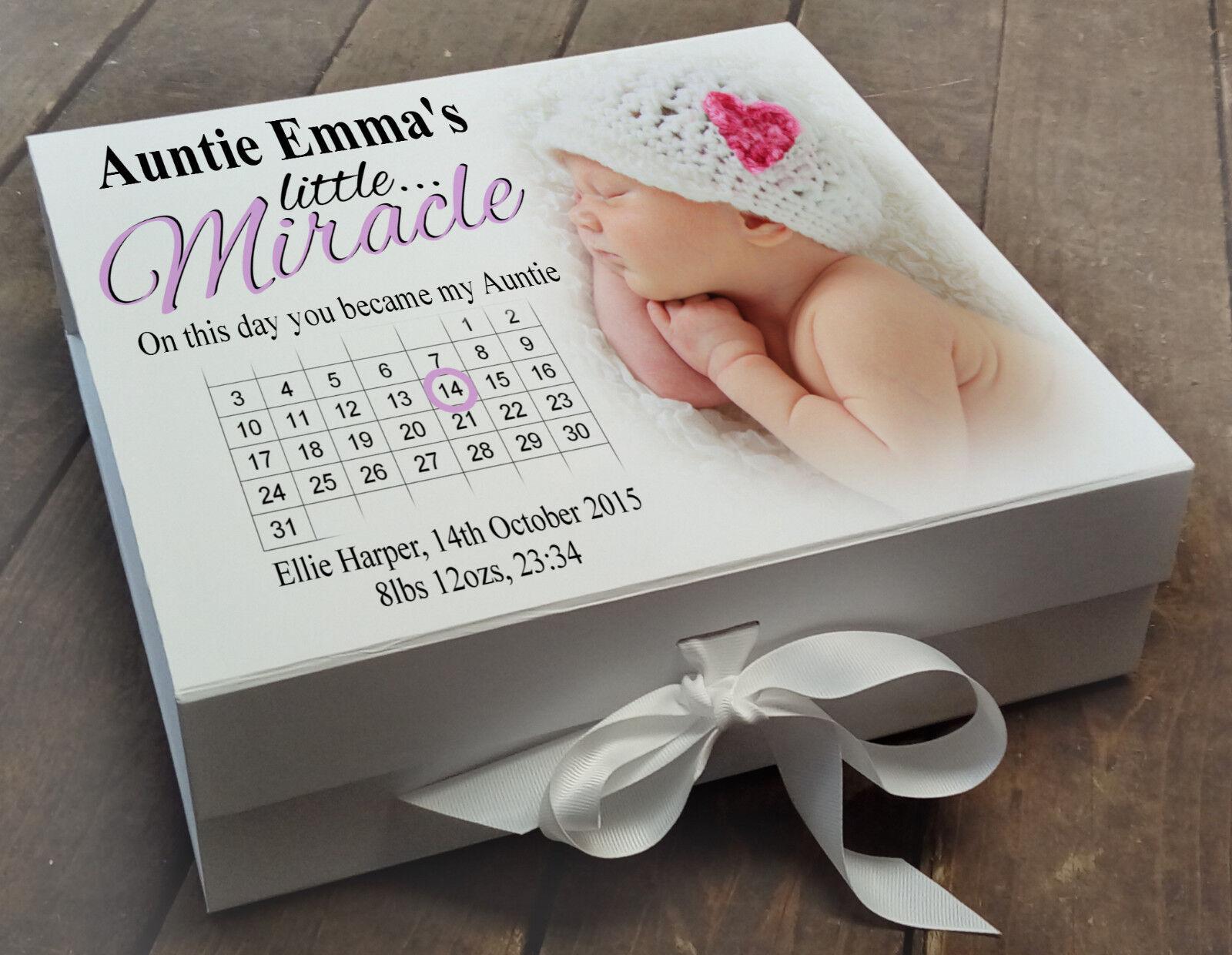 GRANDE Personalizzata Bianco della della della Memoria Ricordo Scatola neonato regalo Per Zia 2bd45b