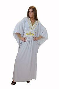 wholesale dealer da1be b9157 Dettagli su Elegante Donna Caftano Vestito da Casa Im Oriental-Style