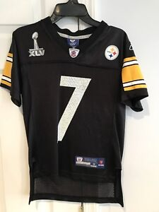 on sale ef954 1ab45 Details about Reebok Pittsburgh Steelers Ben Roethlisberger Super Bowl  Jersey YOUTH Small (8)