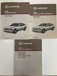 1996 96 LEXUS GS300 shop Manual SET GS 300 Original Repair ...