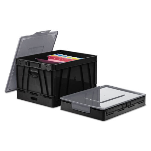 UNIVERSAL Collapsible Crate 17 1//4 x 14 1//4 x 10 1//2 Black//Gray 2//Pack 40010