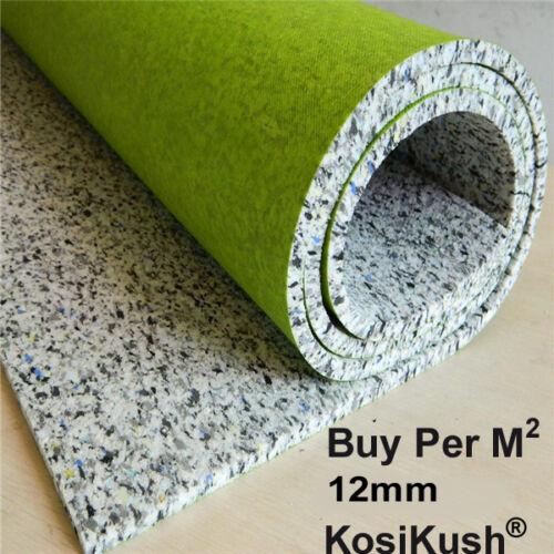 KosiKush® 11m//15.0 Sq M 12mm PU  Thick Luxury Cushion Foam Carpet Underlay