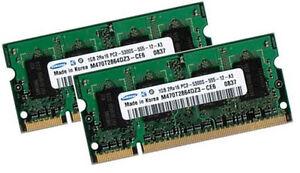 2x-1GB-RAM-Speicher-Fujitsu-Siemens-AMILO-M3438G-M4438G-Samsung-DDR2-667-Mhz