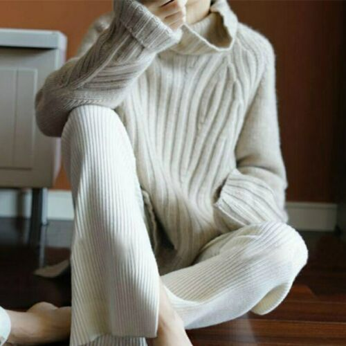 Smpevrg100/% pure wool 19 new heavy thick cashmere sweater female high collar