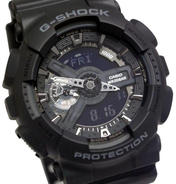 Casio G-Shock Mens Wrist Watch GA110-1B GA-110-1B Digital-Analog Black Large New