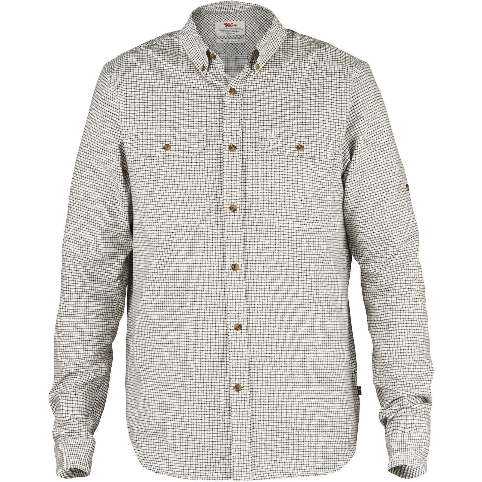 Fjällräven Forest Flannel Shirt  90565 eggshell Hemd Flannelhemd Herrenhemd