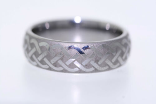 Triton Laser Engraved Tungsten Carbide 7mm Band Ring
