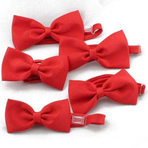 New Satin Red Bow Tie Baby Toddler Kid Teen Boys Wedding Formal Party S-4T 5-20