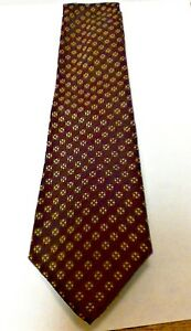 Polo Ralph Lauren 100% Silk Handmade Tie Brown with Gold/Green Design NWT