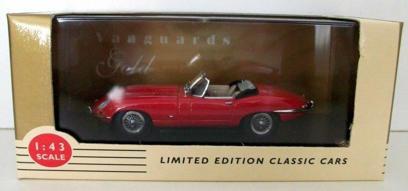 VANGUARDS VANGUARDS VANGUARDS gold 1 43 VG1094 JAGUAR E-TYPE ROADSTER RED a676b1