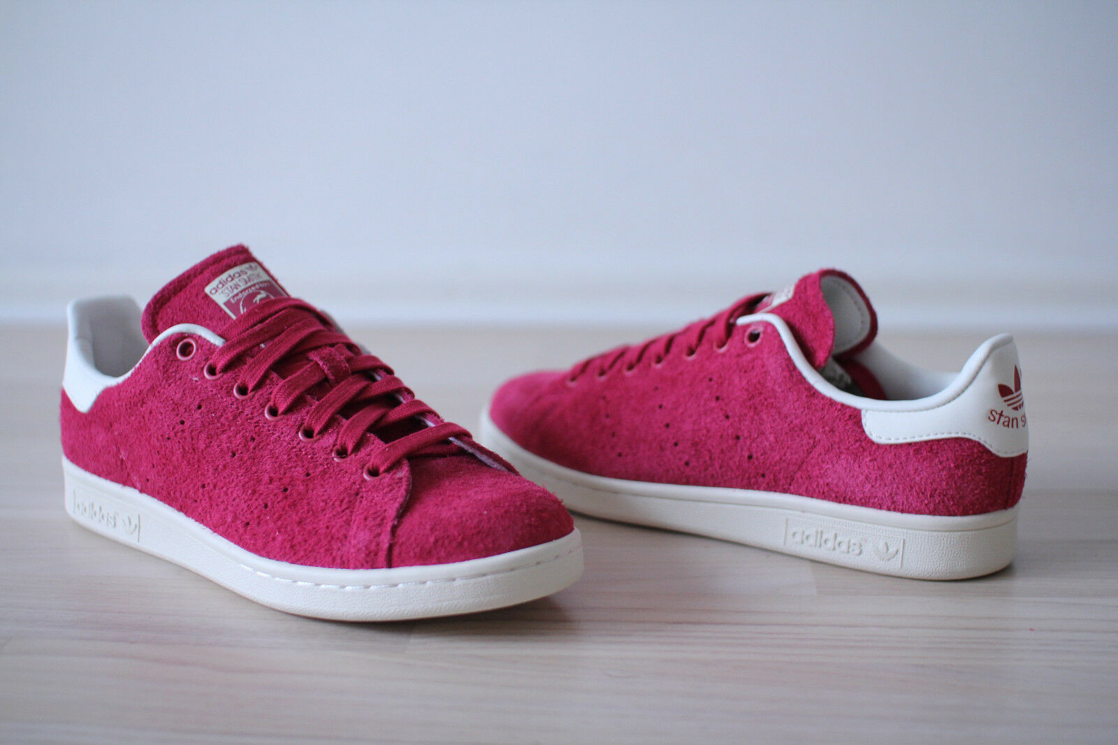 Adidas Stan Smith NEU Woman Berry Rot Weiß Gr. 38,39,40,41,42 NEU Smith & OVP 0019f9