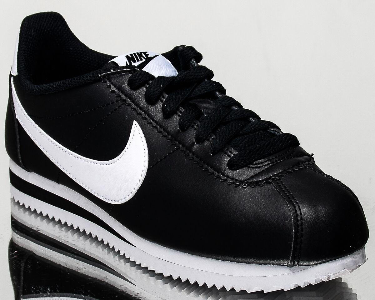 Nike Wmns Classiche Cortez Scarpe da Ginnastica in Pelle Stile di Vita Donna Nero 807471-010