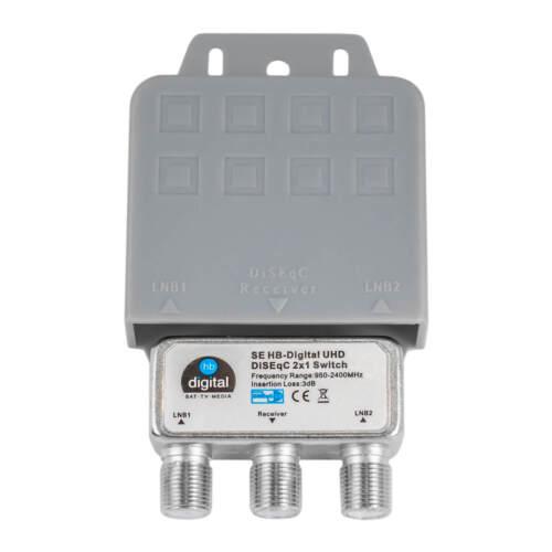 DiSEqC Schalter Switch Umschalter HB DSG 2//1 2x in 1 SAT WETTERSCHUTZ LNB