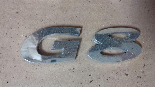 08 09 Pontiac G8 Rear Deck Lid Trunk Emblem G8