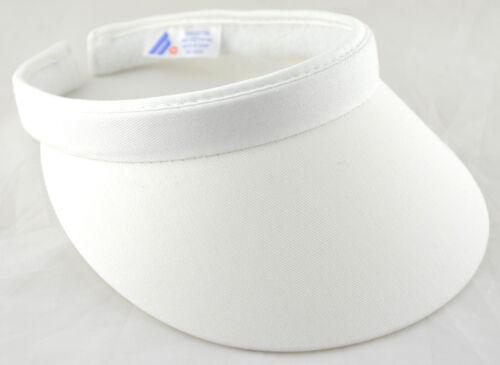 Cotton Twill Clip-On Visor White